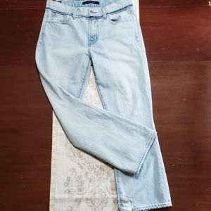 J BRAND Light Blue Cropped Boot Cut Jeans